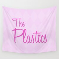 mean girls Wall Tapestries featuring The Plastics - from the movie Mean Girls by AllieR