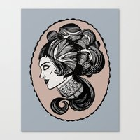 victorian Canvas Prints featuring victorian by Allison Lannutti
