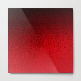 Ruby Red Ombré Design Metal Print