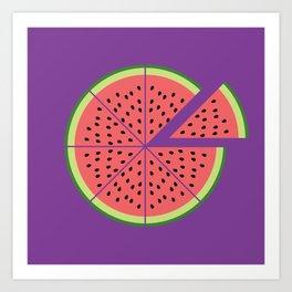 Watermelon Pizza Art Print
