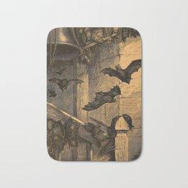 Bats in the belfry Bath Mat