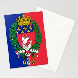 Coat of arms of Paris / Blason de Paris / Fluctuat nec mergitur Stationery Cards