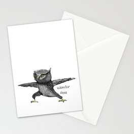 Warrior pose Stationery Cards