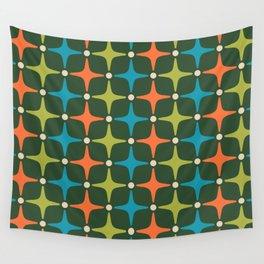 Mid Century Modern Star Pattern 934 Wall Tapestry