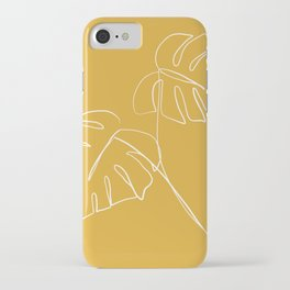 Monstera minimal - yellow iPhone Case