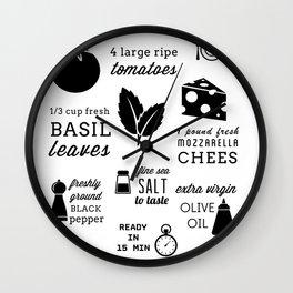 Caprese Salad Wall Clock