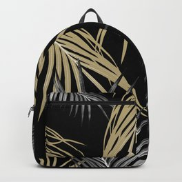Gold Gray Palm Leaves Dream #1 #tropical #decor #art #society6 Backpack