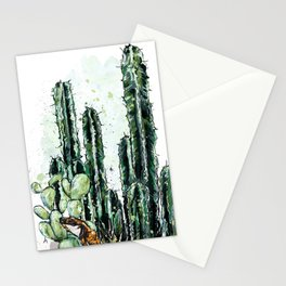 Cactus Long and a friend Stationery Cards
