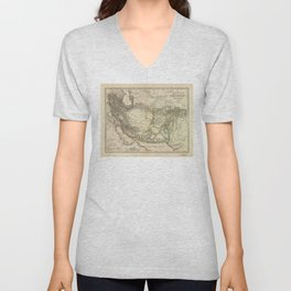 Map of Persia circa 1847 (Afghanistan, Pakistan, Iran) Unisex V-Neck
