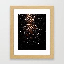 GOLD RAIN or DUST TO DUST Framed Art Print