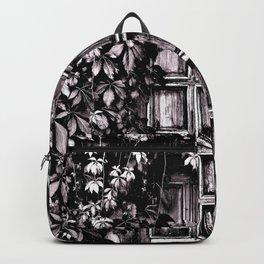 Black White Old Door Backpack