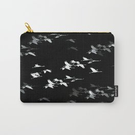 Abstract Black and White Crane Flock #decor #society6 #buyart Carry-All Pouch