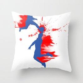 Soccer & Basketball Throw Pillow