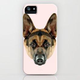 German Shepherd // Pastel Pink iPhone Case