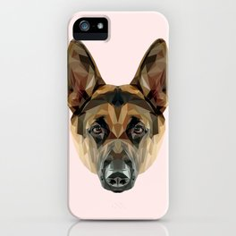 German Shepherd // Pastel Pink iPhone Case