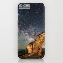 Broken Arch With The Rising Milky Way iPhone Case