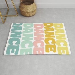 Dance in Candy Pastel Lettering Rug