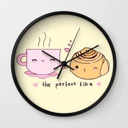 Perfect Fika Wall Clock