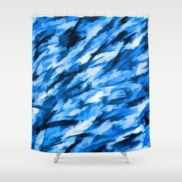 la configuration bleue Shower Curtain