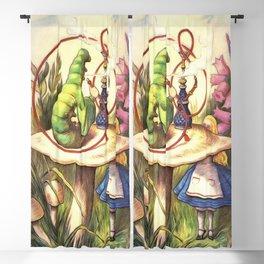 Alice & The Hookah Smoking Caterpillar - Alice In Wonderland Blackout Curtain