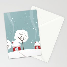 Wintry Stationery Cards