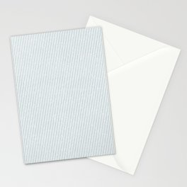 Blue - Gray Thin Stripes Stationery Cards