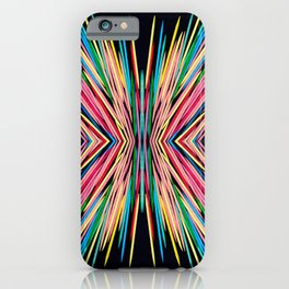Toothpick Fusion Abstract Pattern iPhone Case