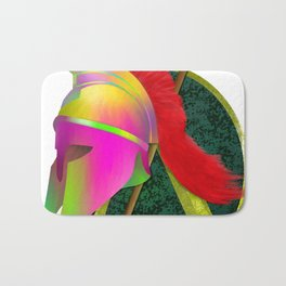 Spartan Helmet Colorful Bath Mat