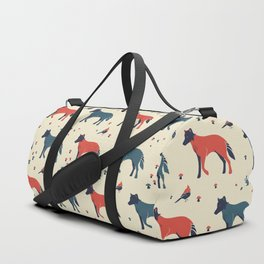 Wolf in the Woodland Duffle Bag