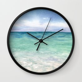 Watercolor Sea Landscape Wall Clock