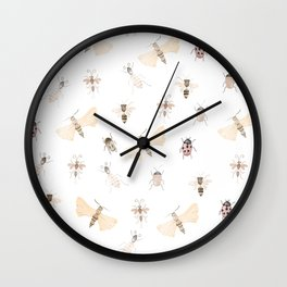 Insects and Bugs Pattern Wall Clock