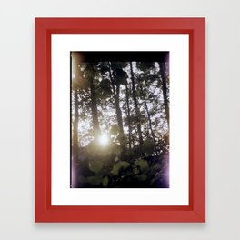 Cracks in the Bellows Framed Art Print