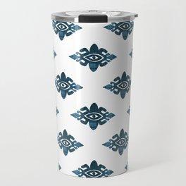 Evil Eyes Blue Travel Mug