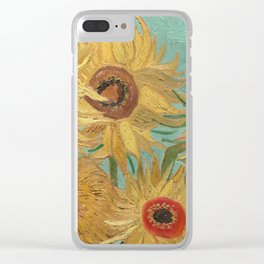 Vase with Twelve Sunflowers Clear iPhone Case