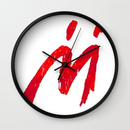 Mario Sunshine - Red M Wall Clock