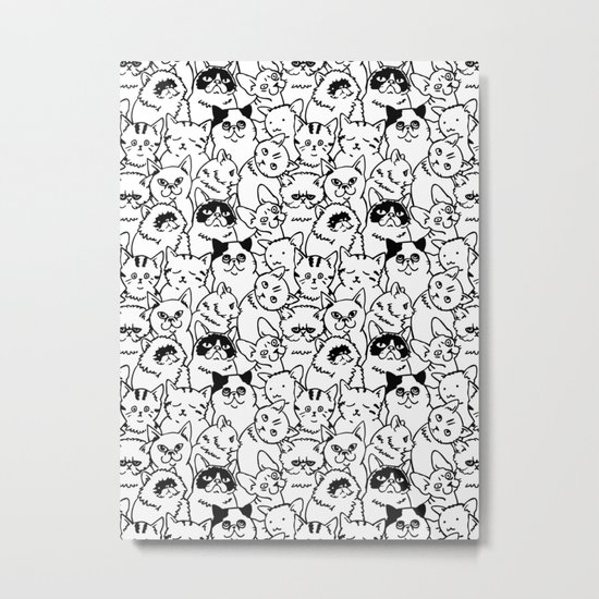 Oh Cats Metal Print