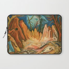 """African American Classical Masterpiece """"First African American Storyteller"""" by Hale Woodruff Laptop Sleeve"""