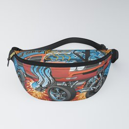 Classic Sixties Muscle Car Parts & Service Cartoon Fanny Pack