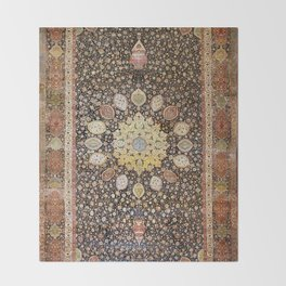 Ardabil Persian Safavid Carpet Throw Blanket