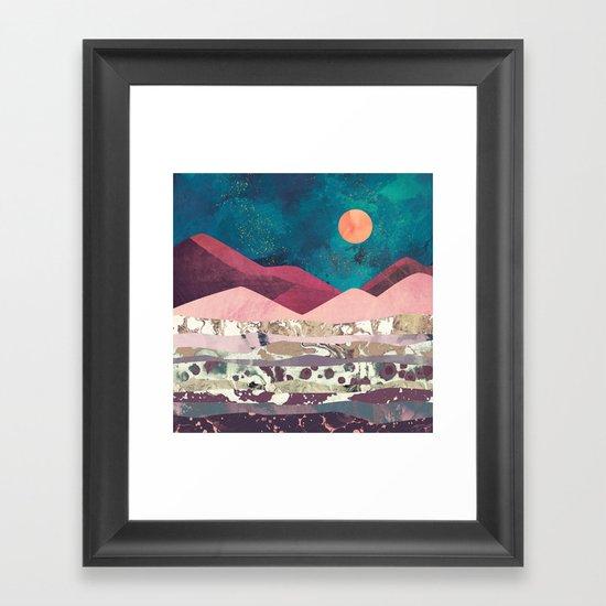 Magenta Mountain Framed Art Print