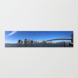 Manhattan Skyline with Bridges Canvas Print