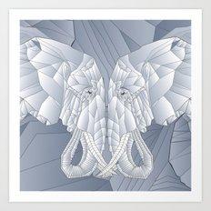 Stone Elephant Art Print