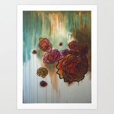 Rose Cluster in progress Art Print