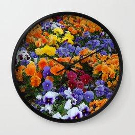 Pancy Flower 2 Wall Clock