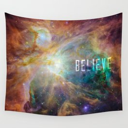 Believe -  Space and Universe Wall Tapestry