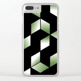 Elegant Origami Geometric Effect Design Clear iPhone Case
