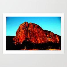 The red Rock Art Print