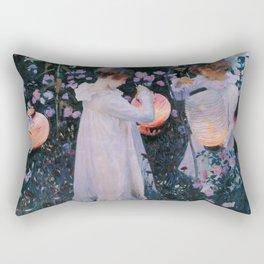 John Singer Sargent ; Carnation, Lily, Lily, Rose ; 1886 Rectangular Pillow