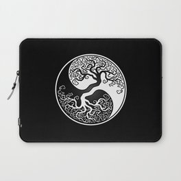 White and Black Tree of Life Yin Yang Laptop Sleeve