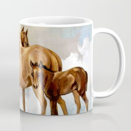 Thoroughbred Mare and Foal Coffee Mug